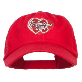 Valentine's Day Double Hearts Patched Low Cap