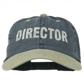 Movie Director Embroidered Washed Two Tone Cap