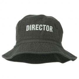 Director Embroidered Pigment Dyed Bucket Hat