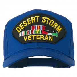 Desert Storm Veteran Patched Cotton Twill Cap - Royal