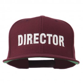 Director Embroidered Flat Bill Cap