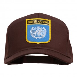 United Nations Flag Shield Patched Cap