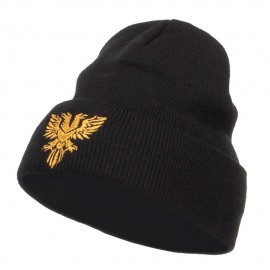 Double Headed Eagle Embroidered Long Beanie