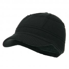 Army Jeep Style Beanie Cap - Charcoal
