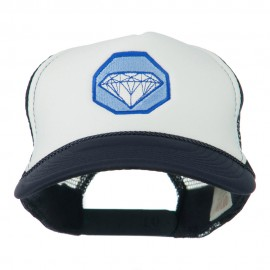 Diamond Jewelry Embroidered Foam Mesh Back Cap
