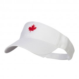 Canada Maple leaf Embroidered Sports Visor - White