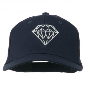 New Diamond Outline Embroidered Cotton Cap