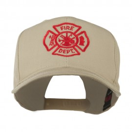 Fire Dept Maltese Cross Embroidered Cap