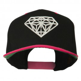 Diamond Outline Embroidered Two Tone Cap