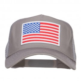 White American Flag Patched Mesh Cap