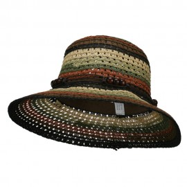Stripe Braid Straw Sun Hat