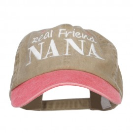 Real Friend Nana Embroidered Washed Cap