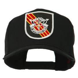 US Army Special Forces De Oppresso Liber Patched High Profile Cap - Black