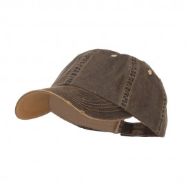 Distressed Washed Herringbone Cotton Cap