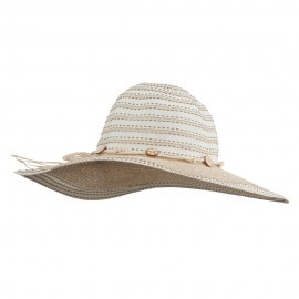 Dash Stitched Paper Braid Hat