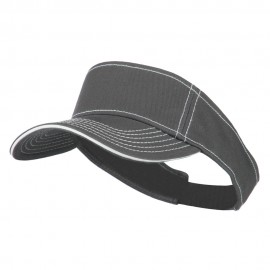 Contrast Stitch Sandwich Visor - Charcoal White