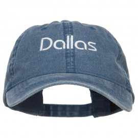 Dallas Embroidered Washed Buckled Cap