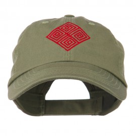 Diamond Swirl Emblem Embroidered Cap
