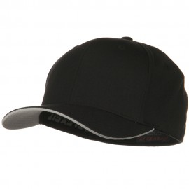 Flexfit Cool and Dry Transvisor Cap - Black Silver