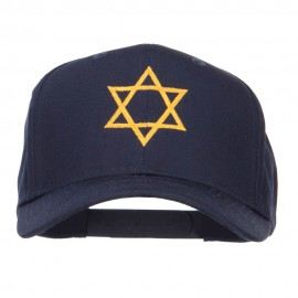 Star of David Embroidered Cotton Twill Cap