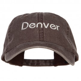 Denver Embroidered Washed Buckled Cap