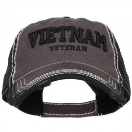 3D Vietnam Veteran Embroidered Vintage Frayed Cap