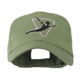 Diving Man Logo Embroidered Cap