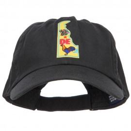 USA State Delaware Patched Low Profile Cap