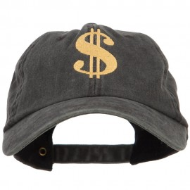 Dollar Sign Logo Embroidered Dyed Unstructured Cap