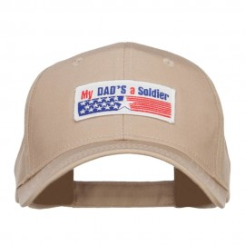 My Dad's a Soldier Patched Cotton Cap