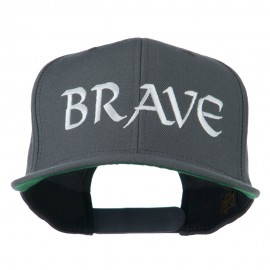 Brave Embroidered Flat Bill Cap