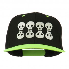 Halloween 8 Skulls Embroidered Snapback Cap