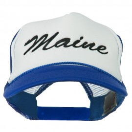 Maine State Embroidered Mesh Cap