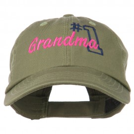 Number 1 Grandma Embroidered Cotton Cap