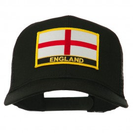 England Flag Patched Mesh Cap