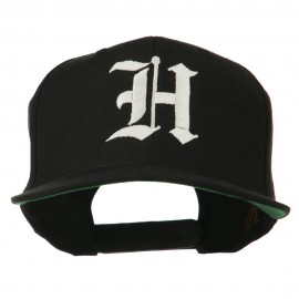 Old English H Embroidered Flat Bill Cap