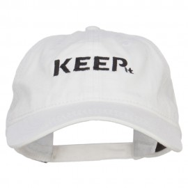 Keep It Embroidered Washed Cap