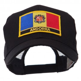 Europe Flag Letter Patched Mesh Cap