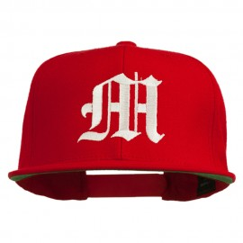 Old English M Embroidered Cap - Red