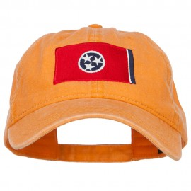 Tennessee State Flag Embroidered Washed Cap