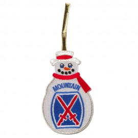 U.S. Armed Forces Embroidered Ornament Medallion