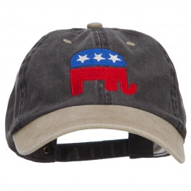 Republican Elephant USA Embroidered Two Tone Cap
