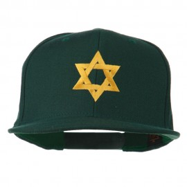 Jewish Star Embroidered Prostyle Snapback Cap