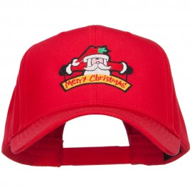 Merry Christmas Santa Embroidered Twill Pro Cap