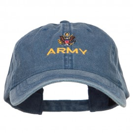Army Embroidered Washed Cap - Navy