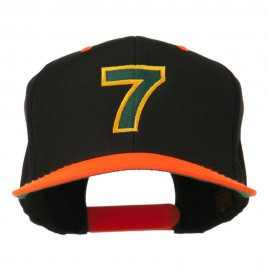 Arial Number 7 Embroidered Classic Two Tone Cap