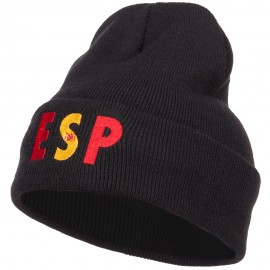 Spain ESP Flag Embroidered Long Beanie