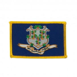 Eastern State Embroidered Patches - Connecticut