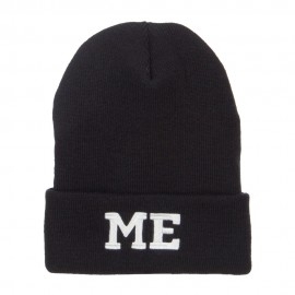 ME Maine State Embroidered Long Beanie