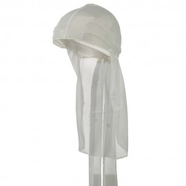 Satin Durag Cap - White